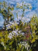 Summer's Here - Acrylic on box canvas